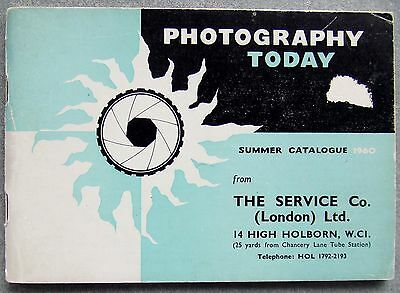 PHOTOGRAPHY TODAY CATALOGUE SUMMER 1960. MICROFLEX, RETINA, ROLLEI etc