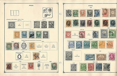 Peru Collection 1874-1938 on Scott International Pages, 11 Pages