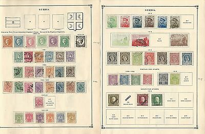 Serbia & Shaghai Collection 1869-1918 on Scott International Pages, 4 Pages