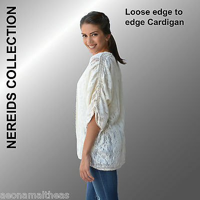 Nereids Collection - Loose edge to edge Cardigan - (SM to XL)
