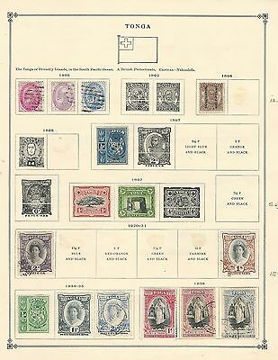 Tonga Collection 1896-1938 on Scott International Pages