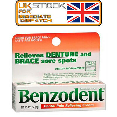 Benzodent Dental Pain Relieving Cream 0.25 oz (7g)  - US IMPORT