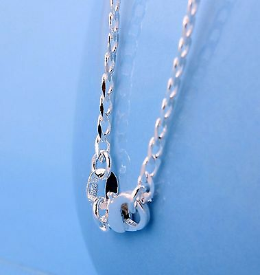 2mm Curb chain Sterling Silver 925 stamped Link chain necklace pendant 16-30""