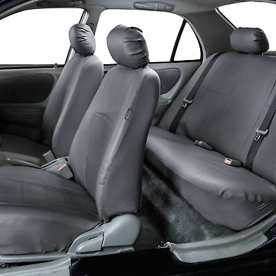 PU Leather Car Seat Covers Top QualitySet Gray W. Free Air Freshener