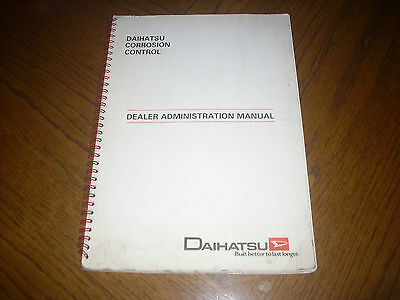 Daihatsu Dealer Administration Manual  Corrosion Control