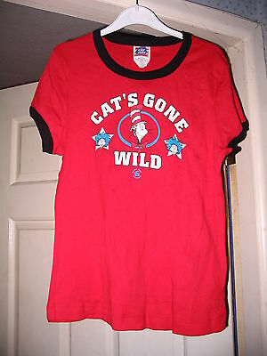 Dr Seuss Cat In The Hat Thing 1 & 2 Ladies Top Large Brand  New!! Very Rare