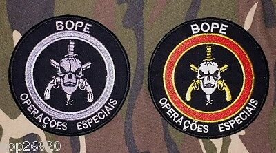 2 Bope Iron On Police Troop Brazil Patch Elite Squad Special Operations No Swat