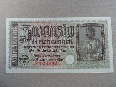 1941-45 Nazi German Occupied Territories 20 Reichsmark Bank Note-EF Cond.16-222
