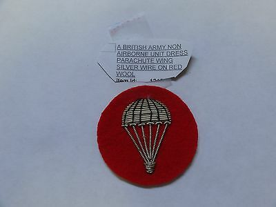 Military Insignia British Army Non Airborne Unit Dress Parachute Wing Silver Wir