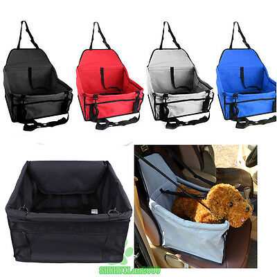 Foldable Dog Travel Booster Bag Safety Belt Cat Puppy Pet Car Seat Carrier Cover