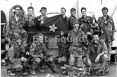 Vietnam War Photo USN SEAL team that killed the chief of an enemy military 566