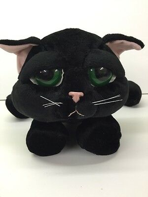 Russ Lil Peepers Shadow Black Kitty Cat Kitten Plush Stuffed Animal Big Sad Eyes