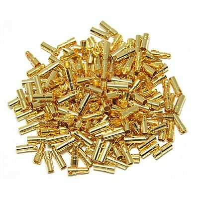 50pairs Gold Tone Metal RC Banana Bullet Plug Connector Male Female 3.5mm USA