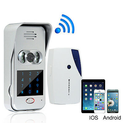 Wireless WiFi Video IR Camera Door Phone Visual Intercom Door Bell Night Version