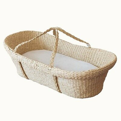Nature Baby Organic Moses Basket w. Anstel Cotton Covered Foam Mattress
