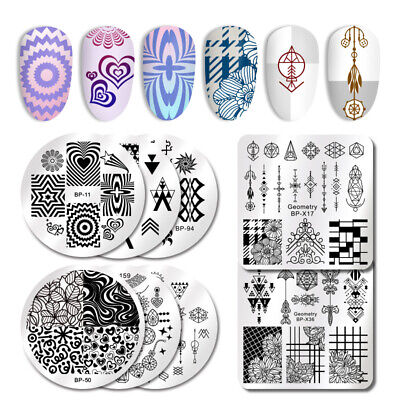 Nail Art Manicure Stamping Image Plates Stainless Steel Template Harunouta DIY