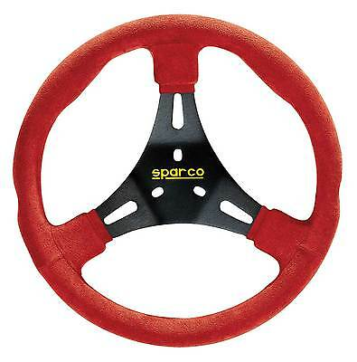 Sparco K300 Karting/Go-Kart Racing Alcantara Trimmed Red/Black Steering Wheel