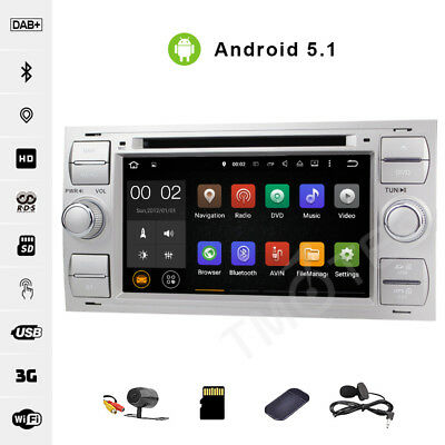 Android 5.1 Car DVD GPS For FORD FOCUS S/C-Max MONDEO KUGA Fiesta Head unit DAB+