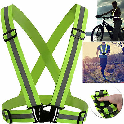 Adjustable Cycling Reflective Safe Vest Cool Motorcycle Running Harness Clothes
