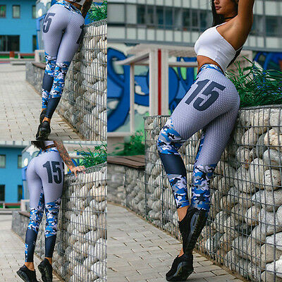 Womens YOGA Workout Gym Sports Running Pants Leggings Fitness Stretch Trousers