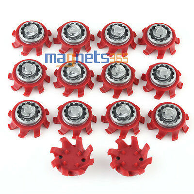 14pcs A+ Golf Shoes Spikes Fast Twist Soft Spikes in Rot Golf Spike-Schuh-Spitze