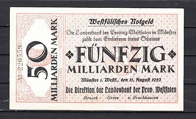 Münster -  Landesbank der Provinz Westfalen  -  50 Mrd. Mark