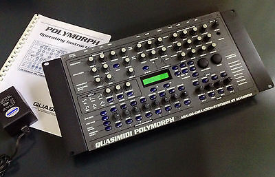 Quasimidi Polymorph mint conditions with original manual and power supply