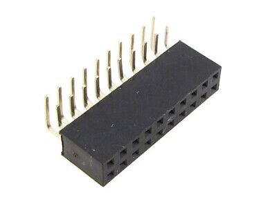 """2x10 POS 20-Pin 2.54mm 0.1"""" Female Header Right Angle -  Pack of 5"""