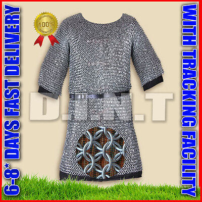 Knight Armor Costume Adult Mens Medieval Renaissance Halloween Fancy Dress sy1a