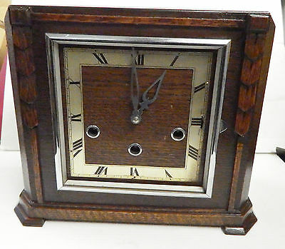 1930 Art Deco mantel clock with Westminster chimes