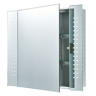 Saxby 60894 - Revelo - 2W LED Bathroom Cabinet Mirror Light with Shaver Socket