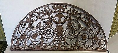 Cast Iron Antique Grate  Ornate Floral  Design  Circa 1910