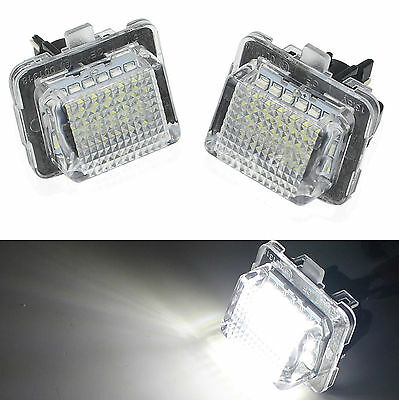 2x License Plate 18 SMD LED Light Lamp for Mercedes Benz W204 C350 C300 C280 New
