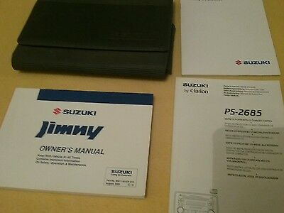 Suzuki Jimny Owners Manual Radio Guide Handbook. Wallet