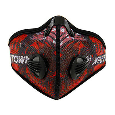 Winter Warm Windproof Mask Half Face Mouth Muffle for Cycling Running - Red