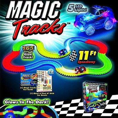 Magic Tracks The Amazing Racetrack that Can Bend Flex and Glow 11Ft 6L Kids Gift
