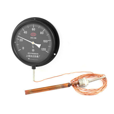 5M Cable 0-120 Celsius Digital Pressure Type Thermometer Black WTQ-280
