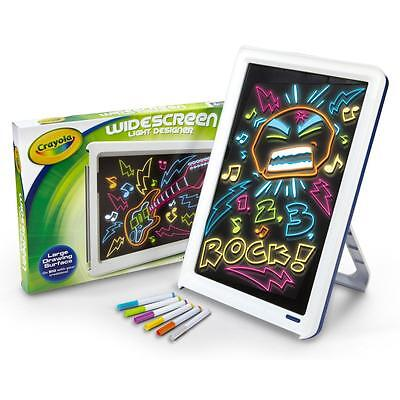 Crayola Widescreen Light Up Designer Childrens/Kids Colouring/Drawing Board Set