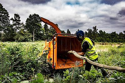 Tracked Woodchipper & Operator East Sussex