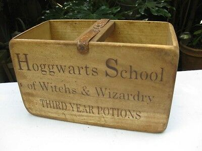 "Industrial Country Pine Box Iron Detail ""harry Potter-Lotions & Potions-Hogwarts"