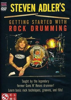 Steven Adler's Getting Started With Rock Drumming DVD Learn to Play Drums
