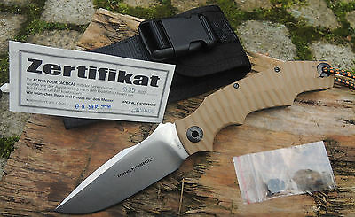 Pohl Force Alpha Four Desert Tactcial Version Messer D2 Stahl Limited Edition