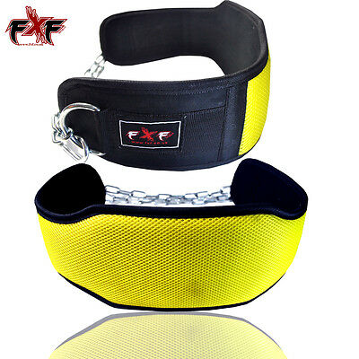 Dipping Belt Body Building Weight Lifting Dip Chain Exercise Gym Training