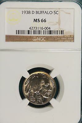 1938-D NGC MS66 Buffalo Nickel!! #A2683