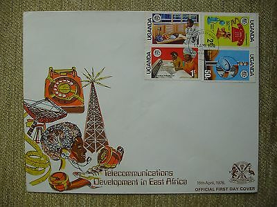 1976 Uganda Telecommunications Development in East Africa issue First day Cover