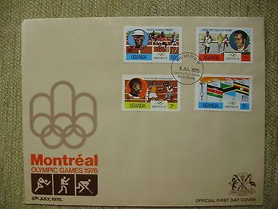1976 Uganda Montreal Olympic Games issue First day Cover