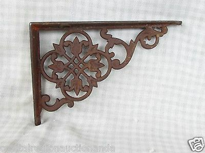 "Antique Cast Iron Ornate Shelf Bracket Floral 5-1/2"" x 4"" Architectural Salvage"