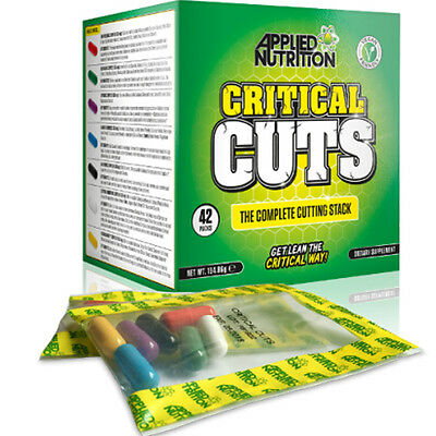 Applied Nutrition Critical Cuts 42 Packs Weight Loss Supplement Cutting Stack