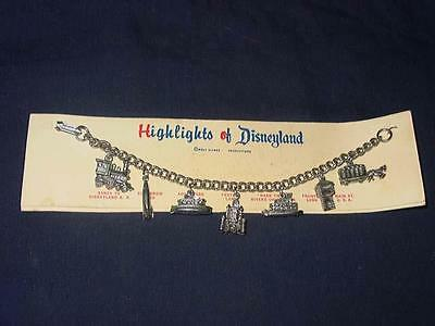 Vintage 1960's - Walt Disney - Highlights of DISNEYLAND - CHARM BRACELET (NIB)