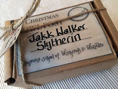 Harry Potter OWL POST Stocking Filler Personalised Christmas gift wrap box